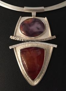 Agate & Carnelian Pendant