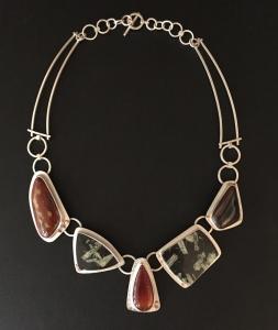 Chinese Writing Stone / Jasper / Carnelian Pendant