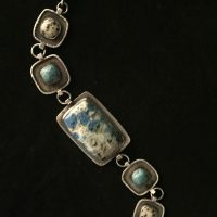 K2, Turquoise & Dalmatian Jasper Bracelet