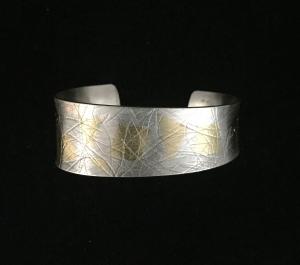 Sterling Silver/24k Cuff Bracelet