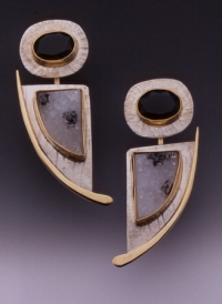 Onyx and Drusy Earrings