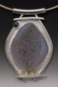 Drusy Hematite Pendant