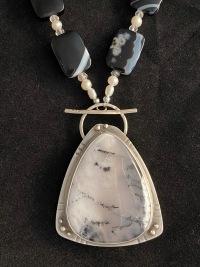 Dendrite Agate w?Onyx & Pearls