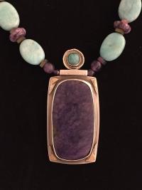 Amazonite, Sugilite  Necklace