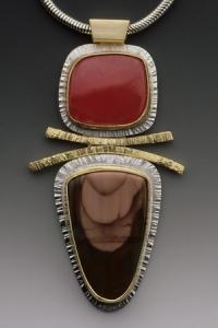 Rhodachrosite Jasper Pendant