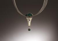 Chrysacola Ruby Opal Pendant