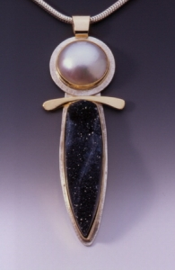 Mabe Pearl & Drusy Pendant