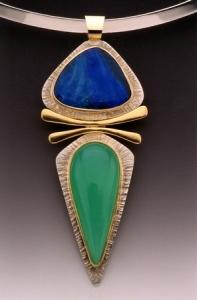 Opal & Chrysophrase Pendant
