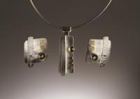 Peridot Pendant & Earrings