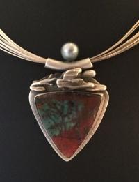 Tahitian Pearl and Cuprite Pendant