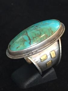 Turquoise Ring SS/22k