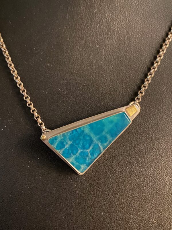 Sterling silver Chrysacola Necklace
